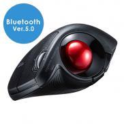 ワイヤレストラックボールマウス(Bluetooth・エルゴノミクス・60°・親指操作・チルトホイール・マルチペアリング・カウント切替・黒)