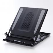 ノートPCスタンド(5段階角度調整・冷却ファン付き・データホルダー機能付)