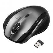 静音マウス(ワイヤレス・エルゴノミクス・人間工学・中型・6ボタン・DPI切替・ガンメタリック)